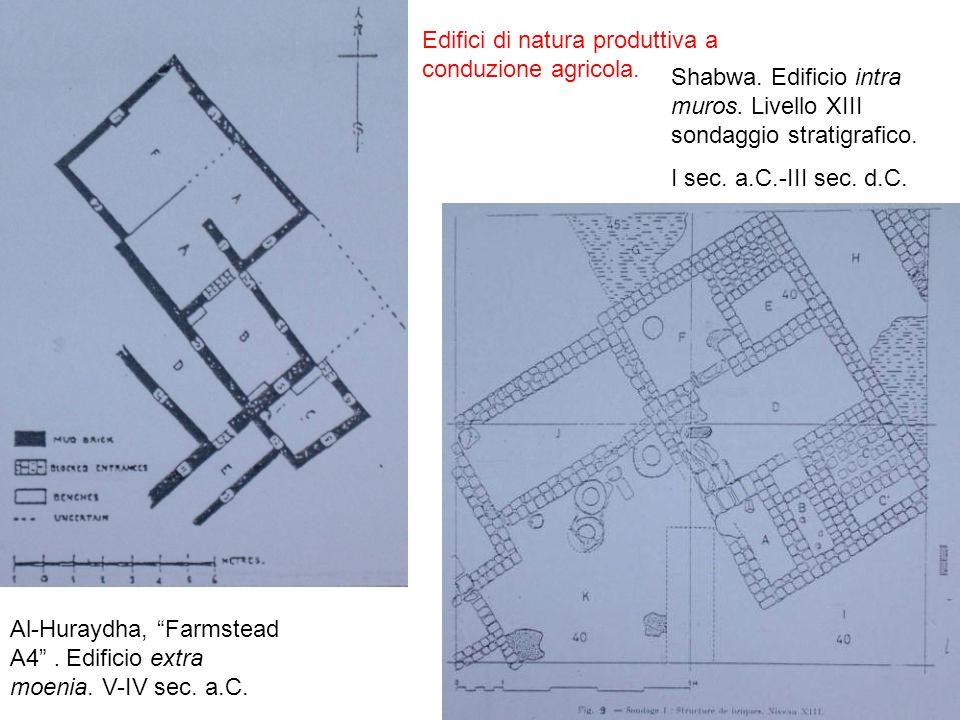 Edifici di natura produttiva a conduzione agricola.