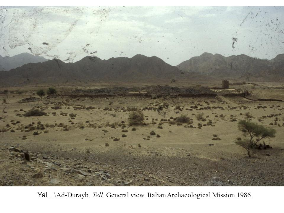 Yal…\Ad-Durayb. Tell. General view. Italian Archaeological Mission 1986.