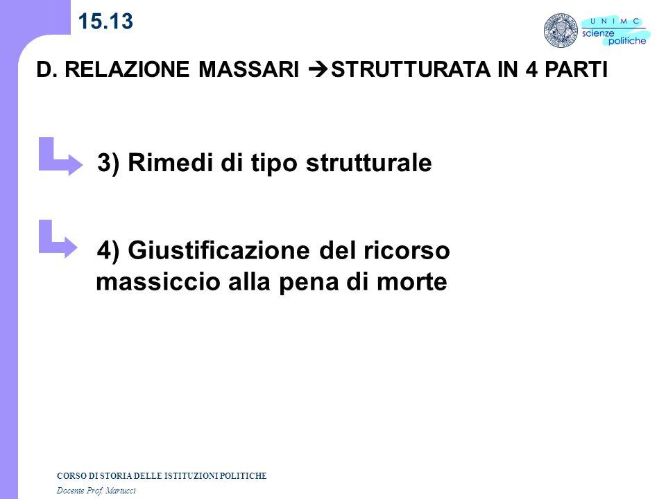 3) Rimedi di tipo strutturale