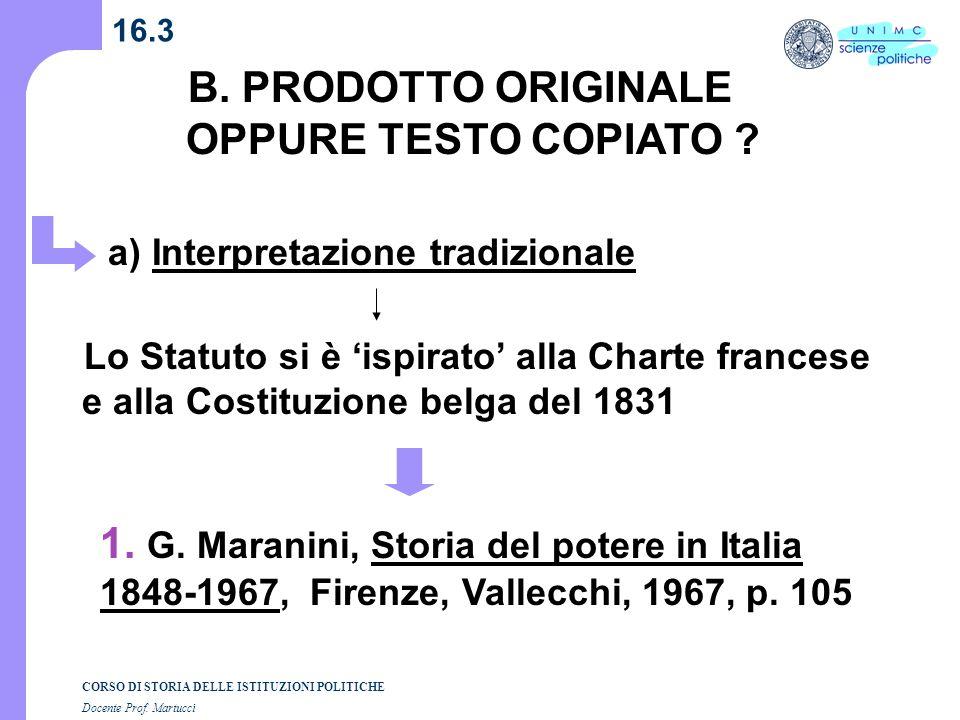 B. PRODOTTO ORIGINALE OPPURE TESTO COPIATO