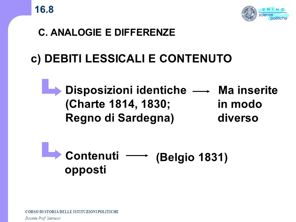 c) DEBITI LESSICALI E CONTENUTO