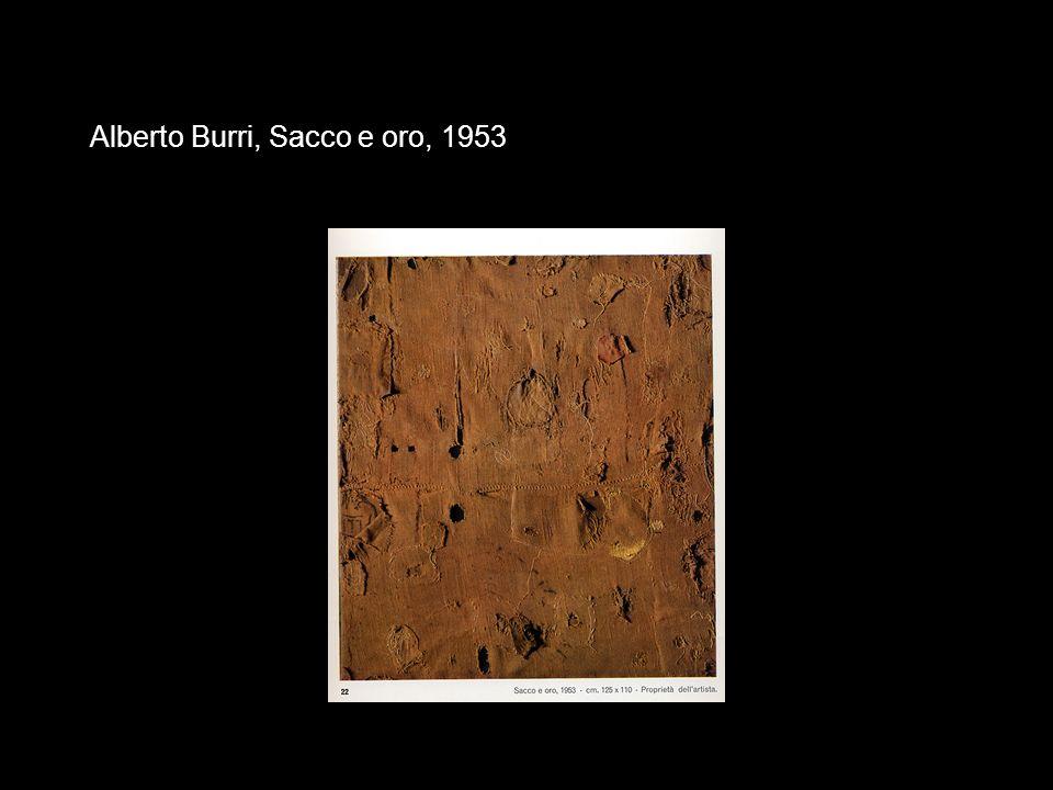 Alberto Burri, Sacco e oro, 1953