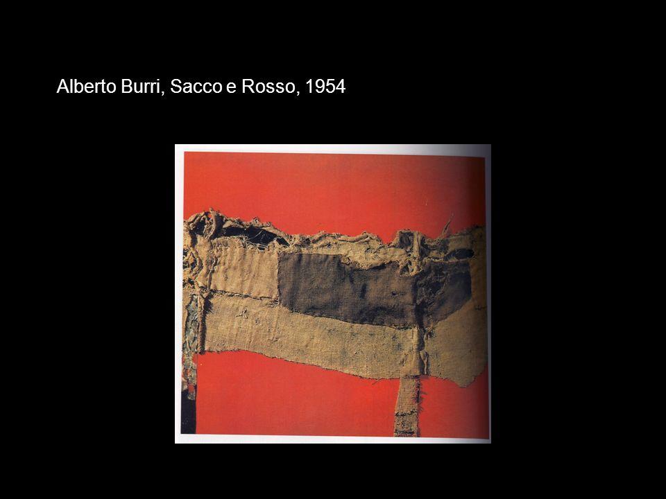 Alberto Burri, Sacco e Rosso, 1954
