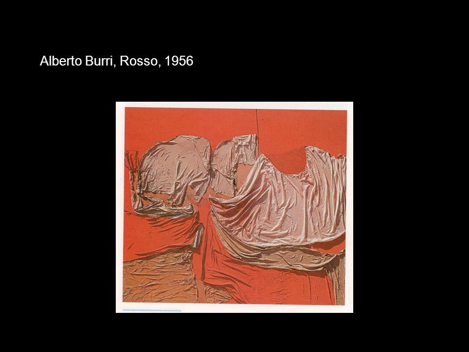 Alberto Burri, Rosso, 1956