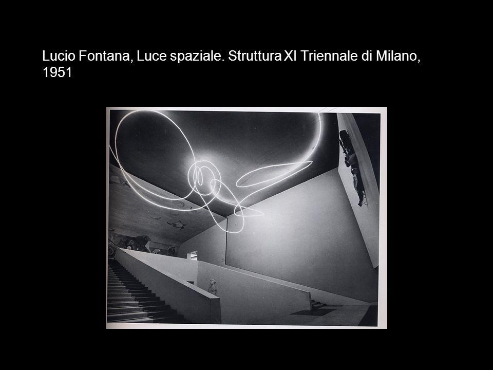 Lucio Fontana, Luce spaziale. Struttura XI Triennale di Milano, 1951
