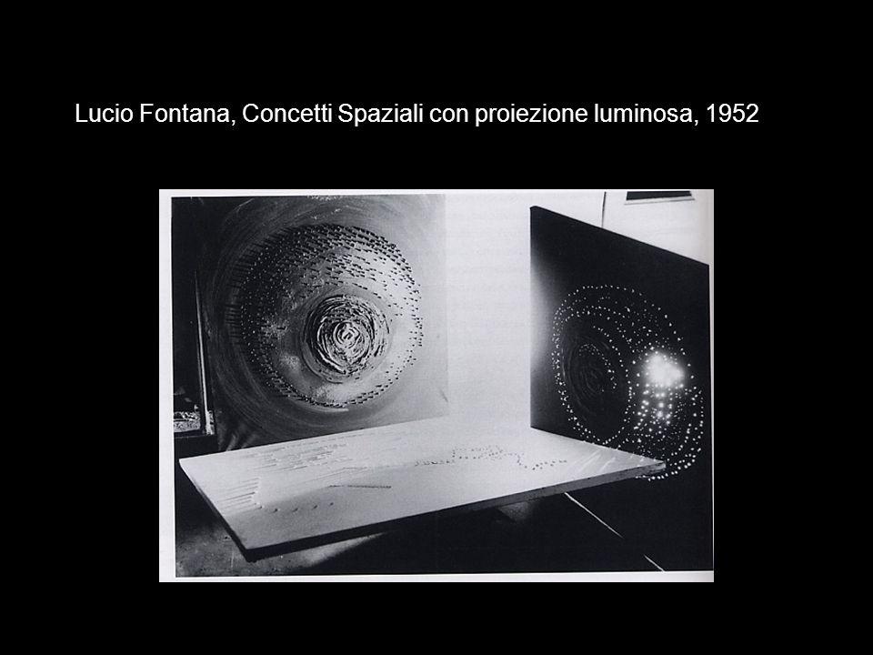 Lucio Fontana, Concetti Spaziali con proiezione luminosa, 1952