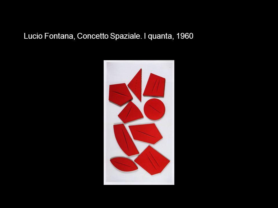 Lucio Fontana, Concetto Spaziale. I quanta, 1960