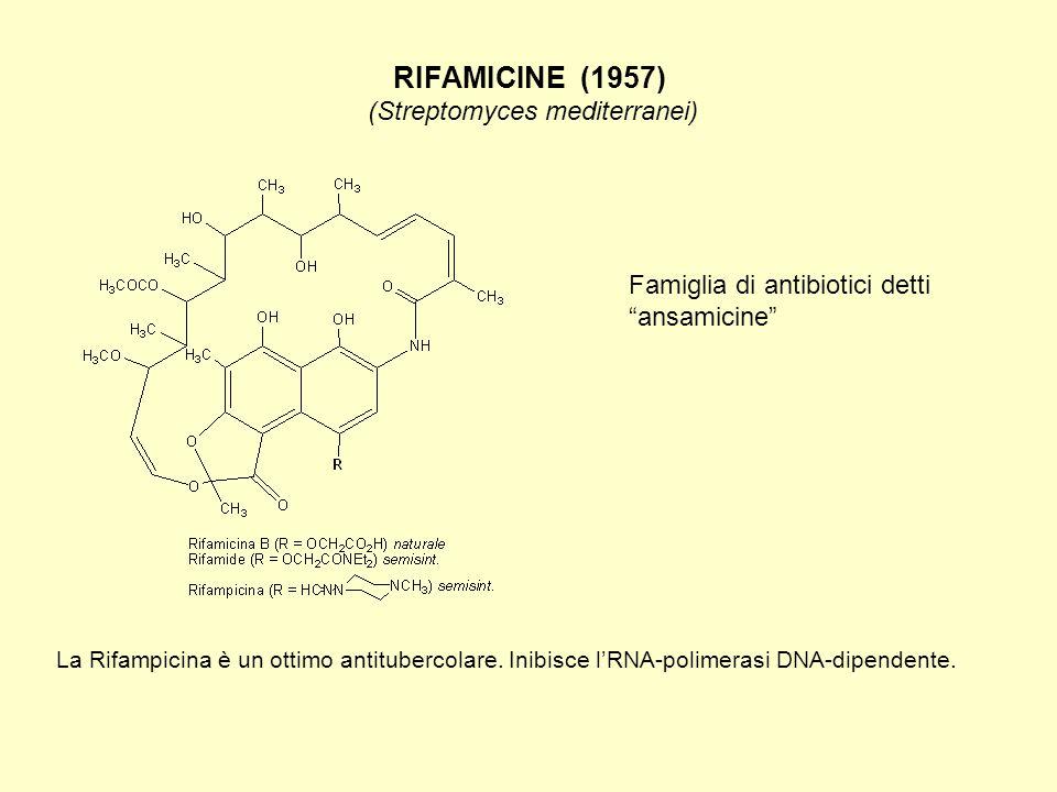 RIFAMICINE (1957) (Streptomyces mediterranei)