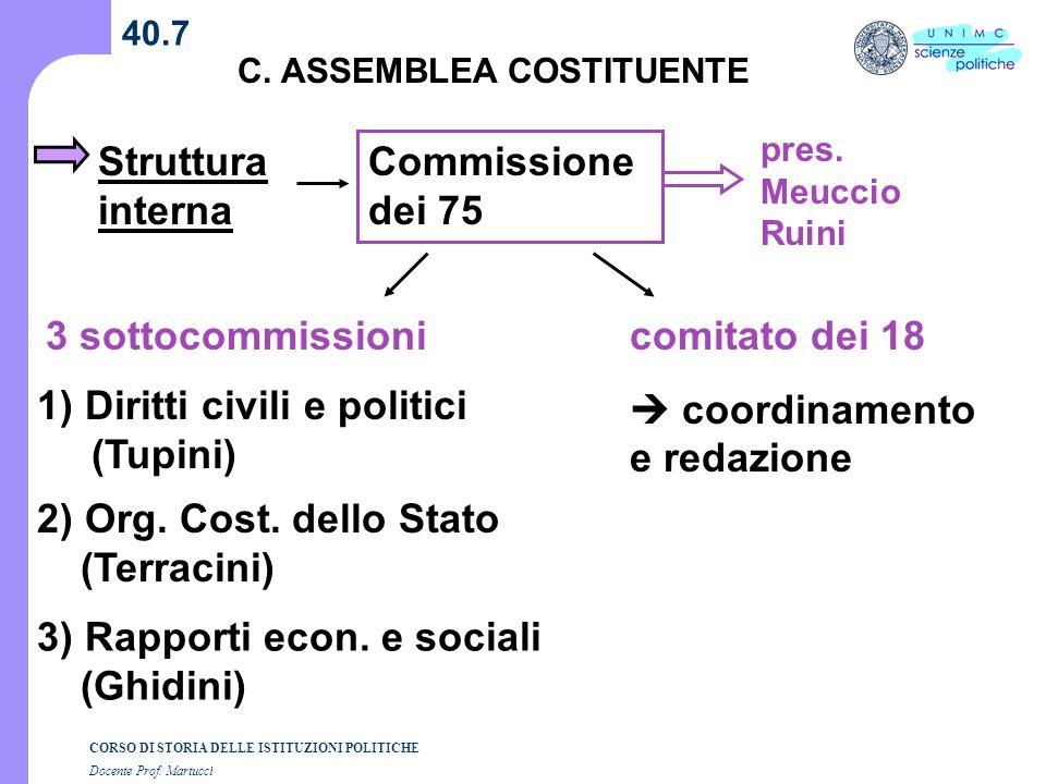  coordinamento e redazione 1) Diritti civili e politici (Tupini)
