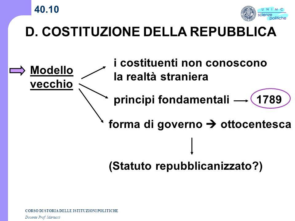 D. COSTITUZIONE DELLA REPUBBLICA