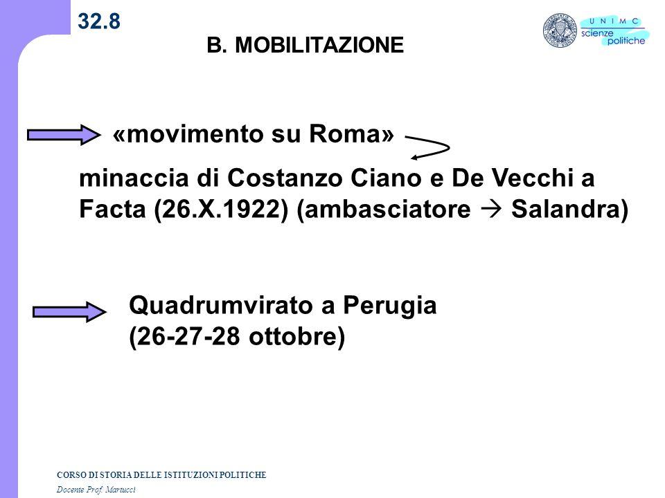 Quadrumvirato a Perugia (26-27-28 ottobre)