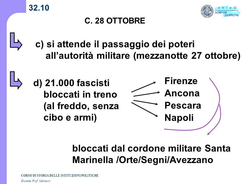 d) 21.000 fascisti bloccati in treno (al freddo, senza cibo e armi)