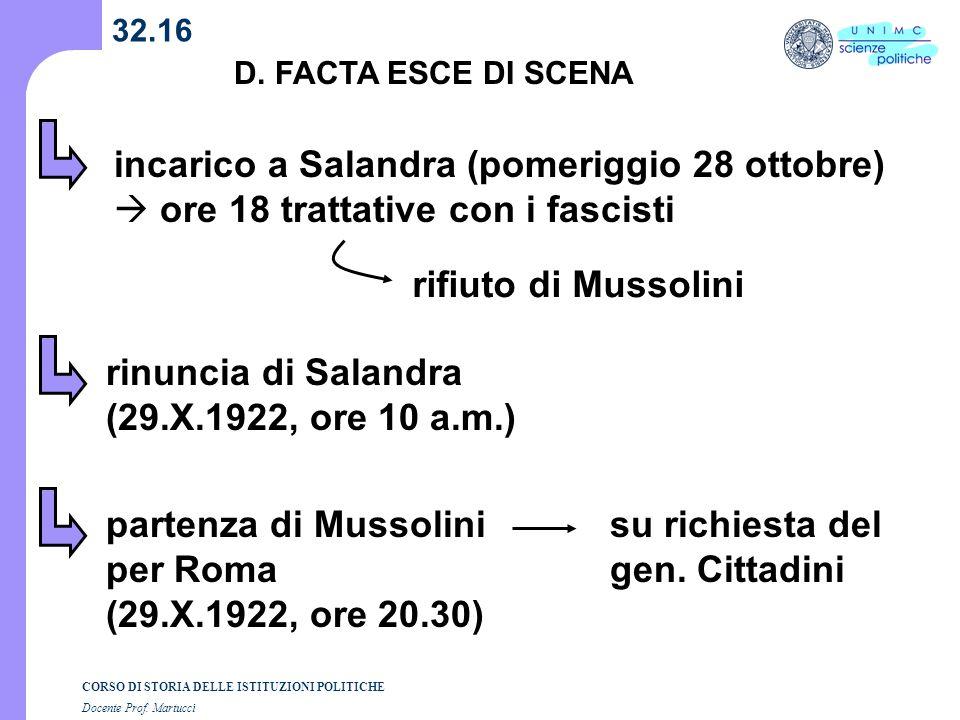 rinuncia di Salandra (29.X.1922, ore 10 a.m.)