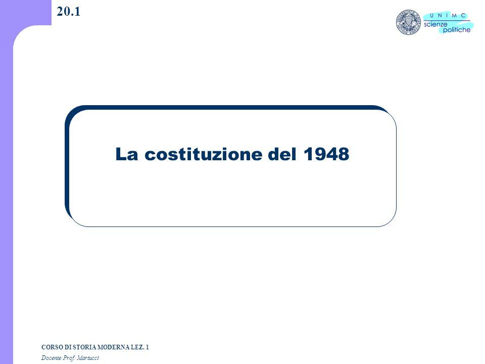 20.1 La costituzione del 1948