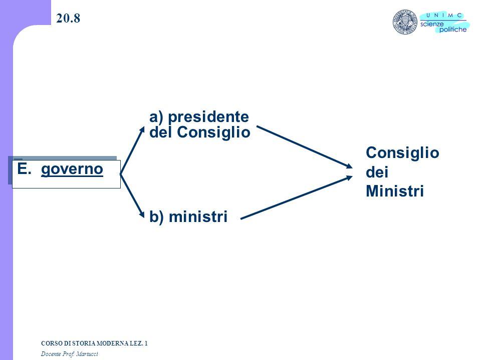 a) presidente del Consiglio