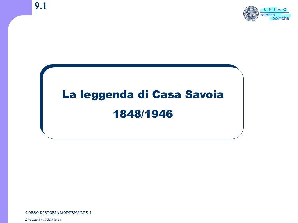 La leggenda di Casa Savoia