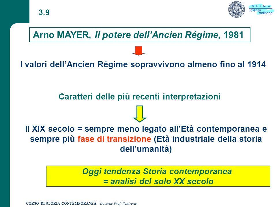 Arno MAYER, Il potere dell'Ancien Régime, 1981