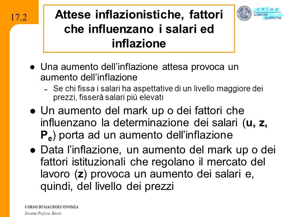 Attese inflazionistiche, fattori che influenzano i salari ed inflazione