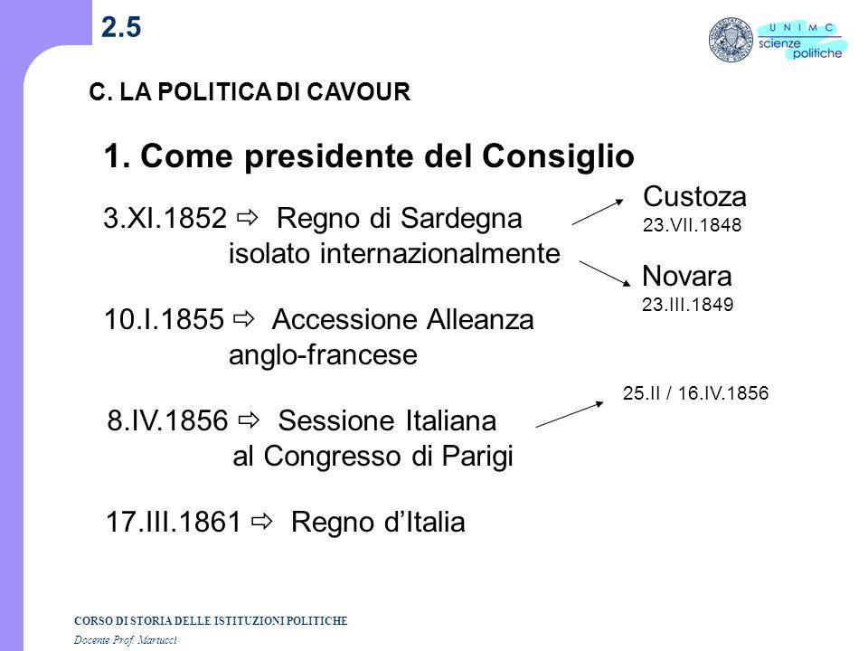 1. Come presidente del Consiglio