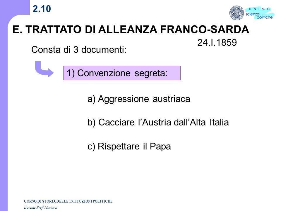 E. TRATTATO DI ALLEANZA FRANCO-SARDA