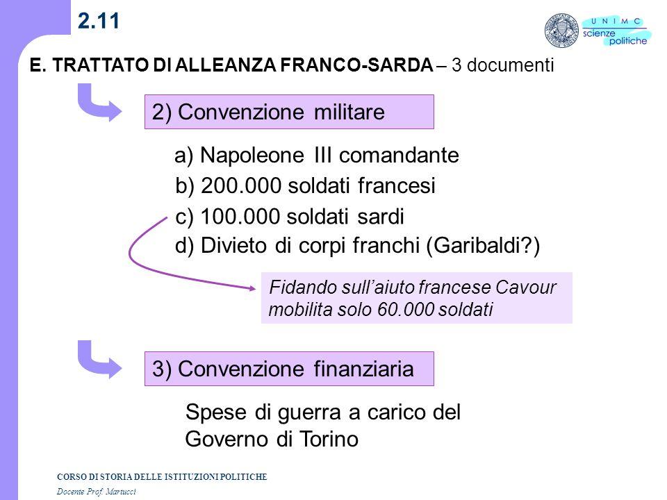 2) Convenzione militare