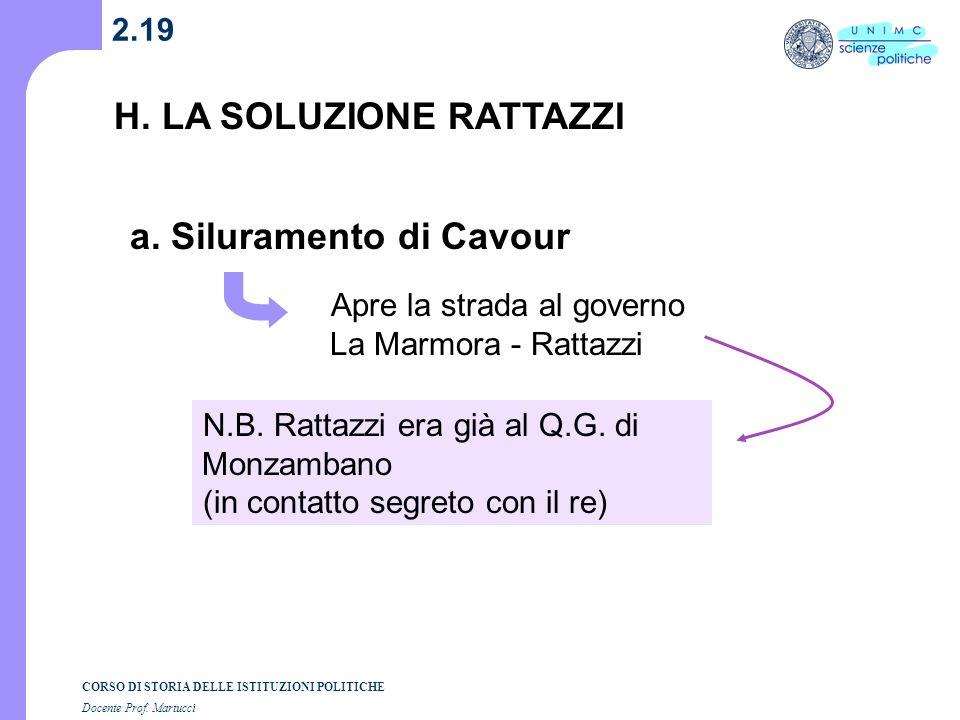 H. LA SOLUZIONE RATTAZZI