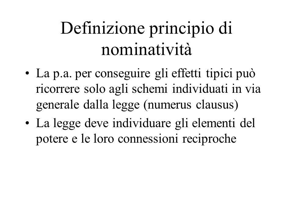 Definizione principio di nominatività