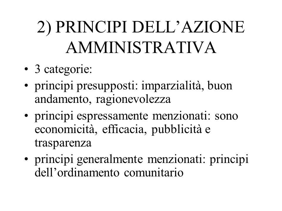 2) PRINCIPI DELL'AZIONE AMMINISTRATIVA