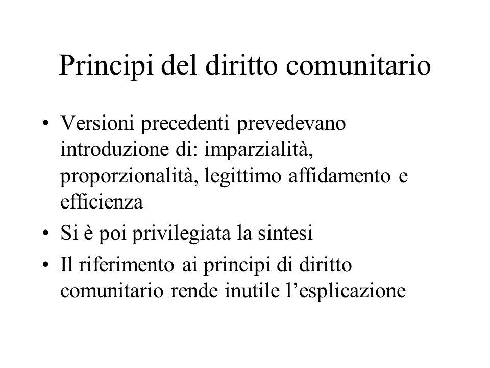 Principi del diritto comunitario