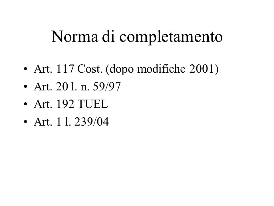 Norma di completamento