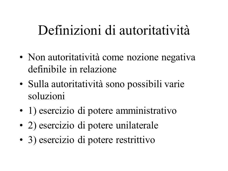 Definizioni di autoritatività