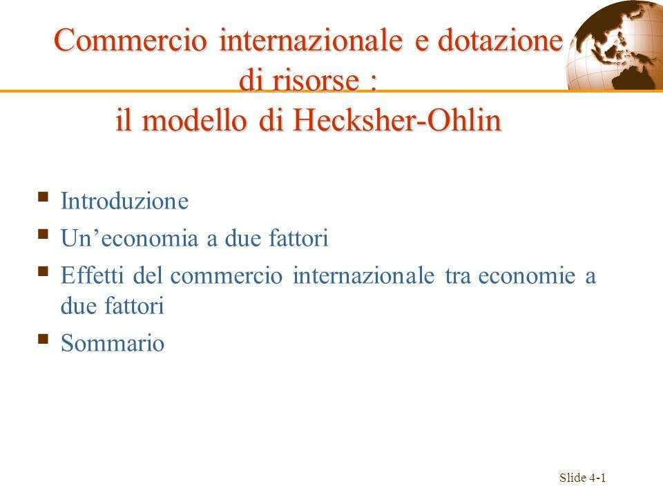 Commercio internazionale e dotazione di risorse : il modello di Hecksher-Ohlin