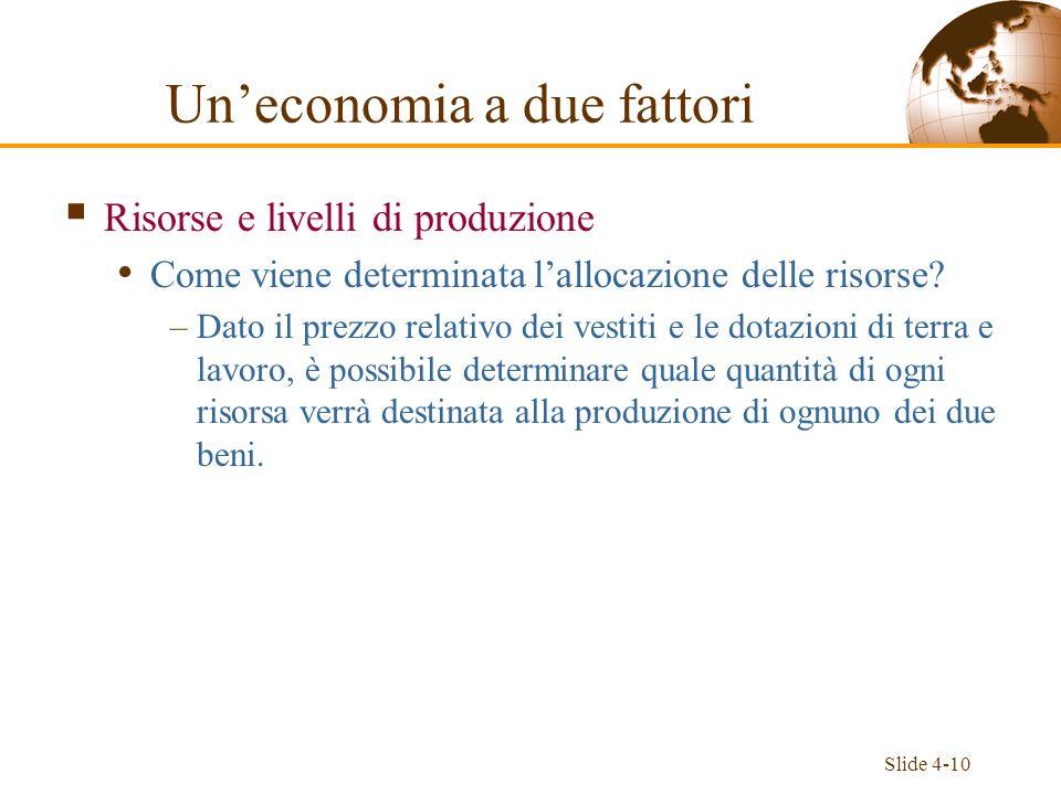 Un'economia a due fattori