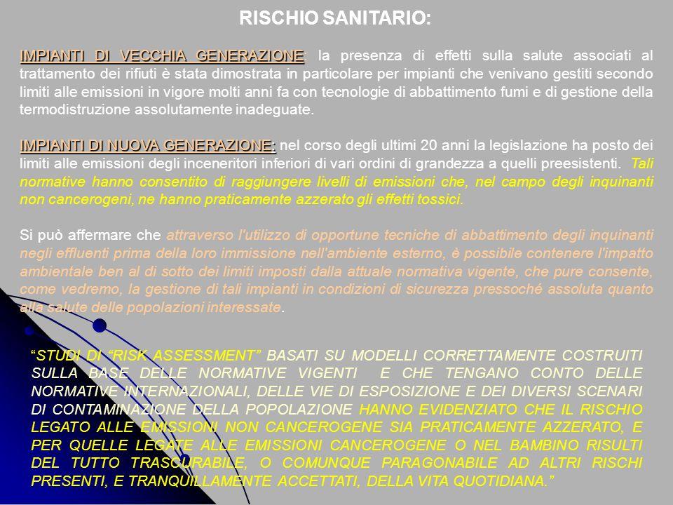 RISCHIO SANITARIO: