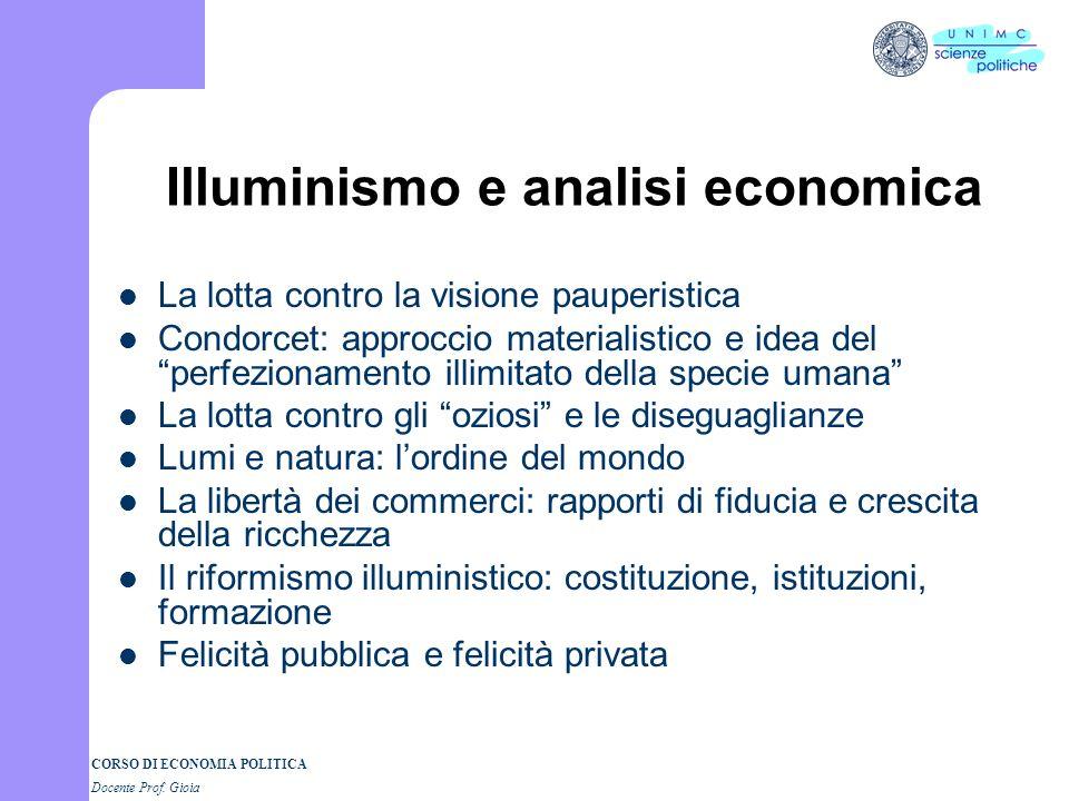 Illuminismo e analisi economica