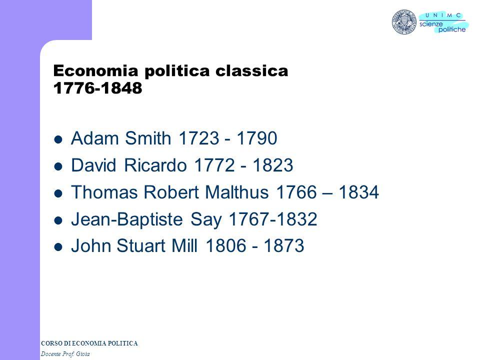 Economia politica classica 1776-1848