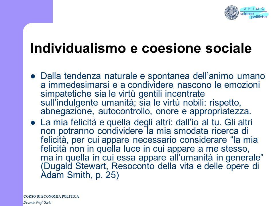 Individualismo e coesione sociale