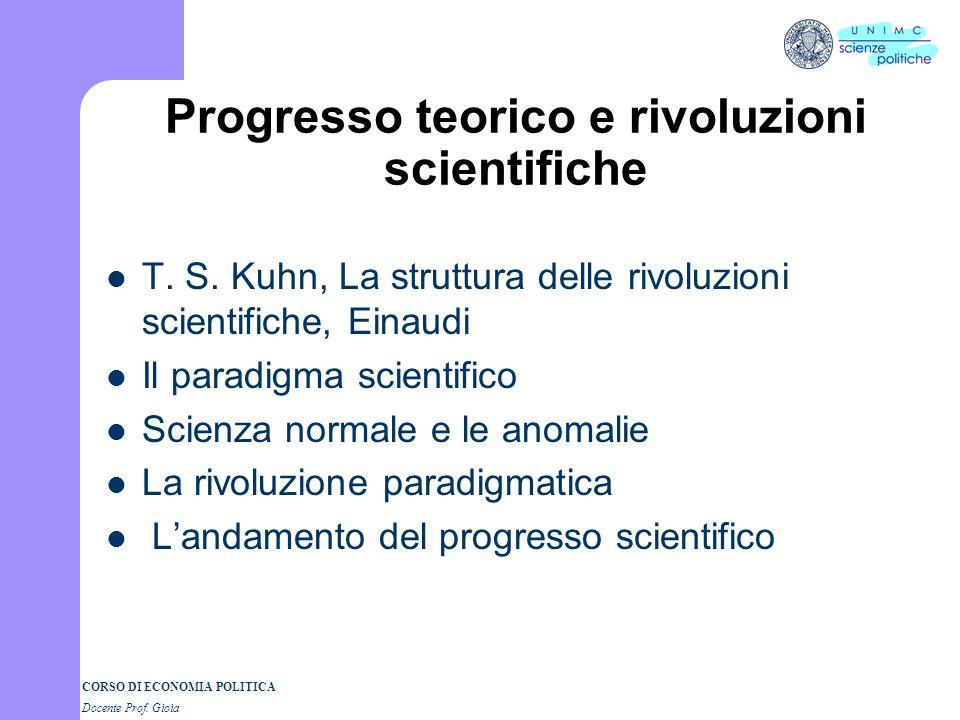 Progresso teorico e rivoluzioni scientifiche