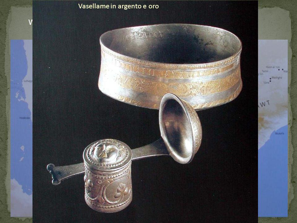 Vasellame in argento e oro