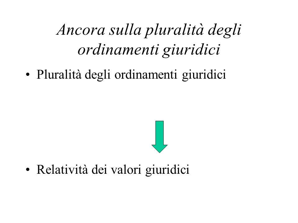 Ancora sulla pluralità degli ordinamenti giuridici