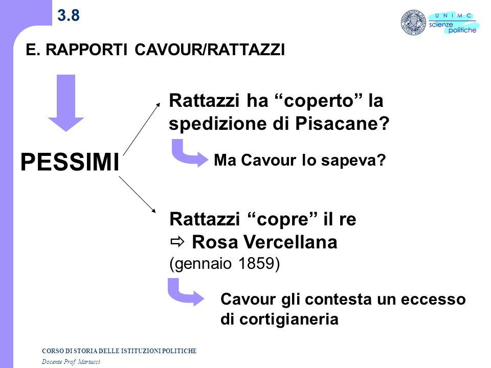 PESSIMI Rattazzi ha coperto la spedizione di Pisacane