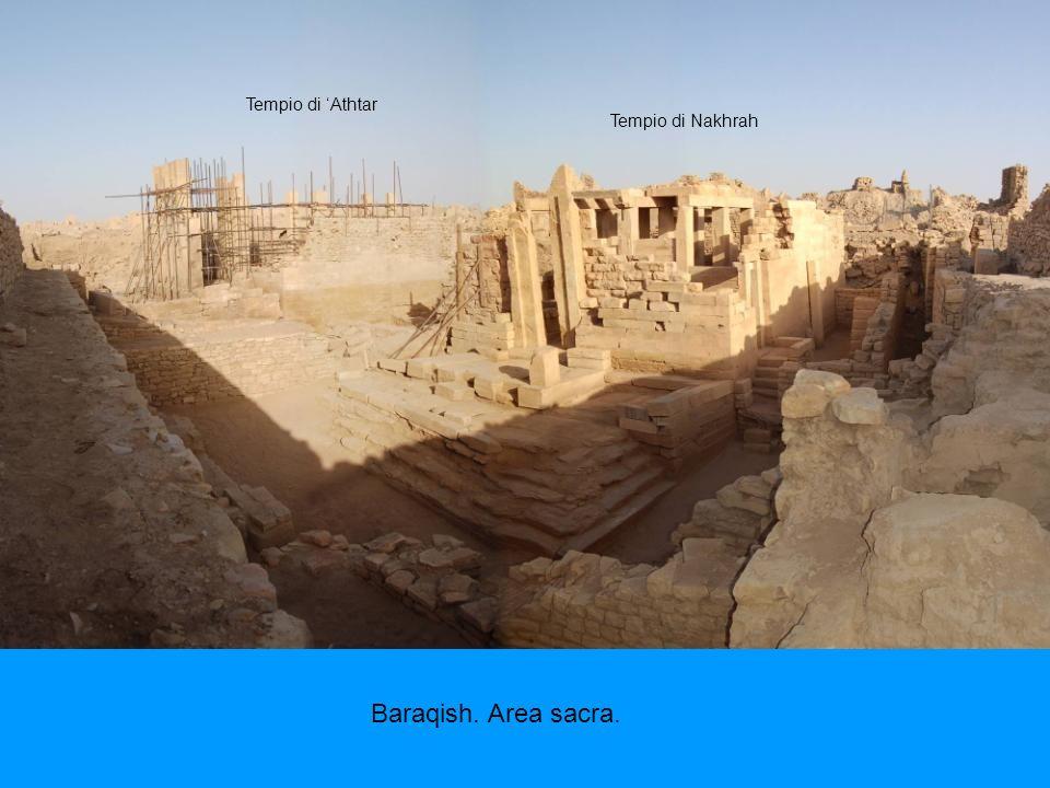Tempio di 'Athtar Tempio di Nakhrah Baraqish. Area sacra.