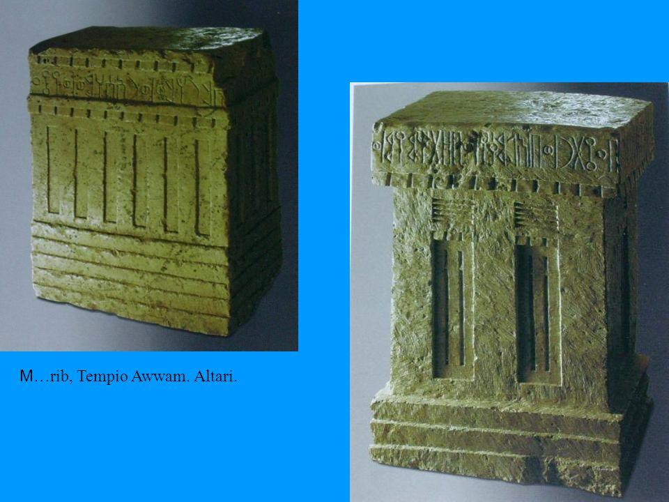 M…rib, Tempio Awwam. Altari.