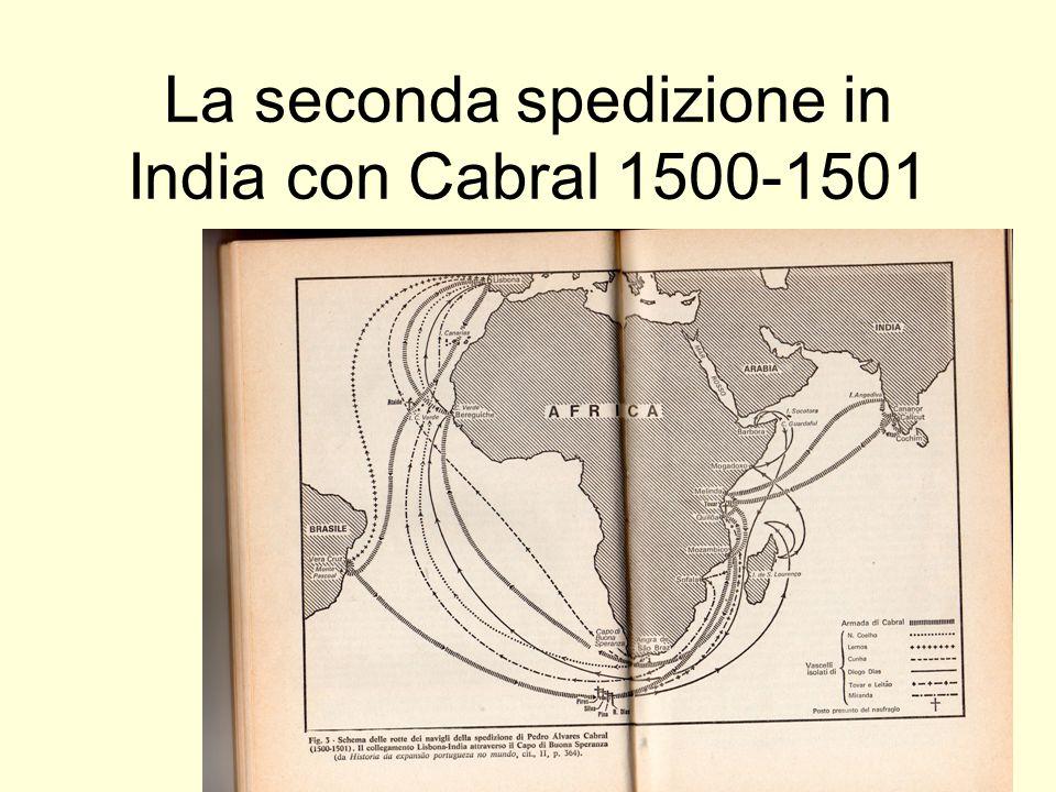 La seconda spedizione in India con Cabral 1500-1501