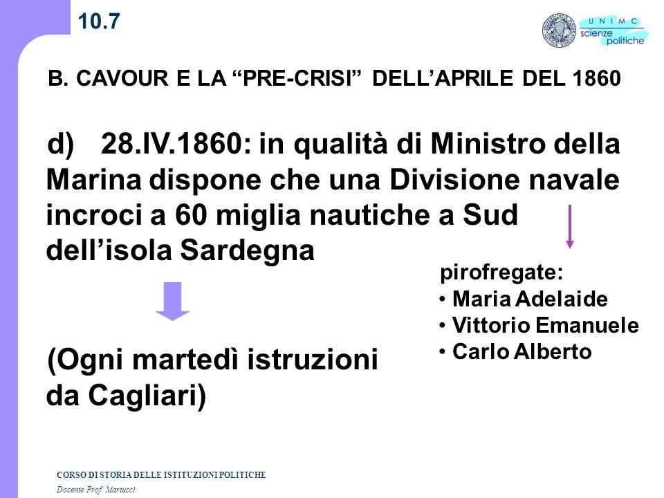 (Ogni martedì istruzioni da Cagliari)