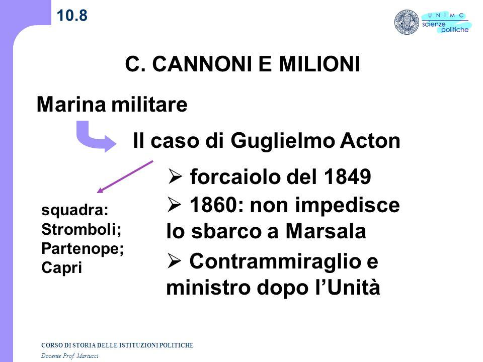 Il caso di Guglielmo Acton
