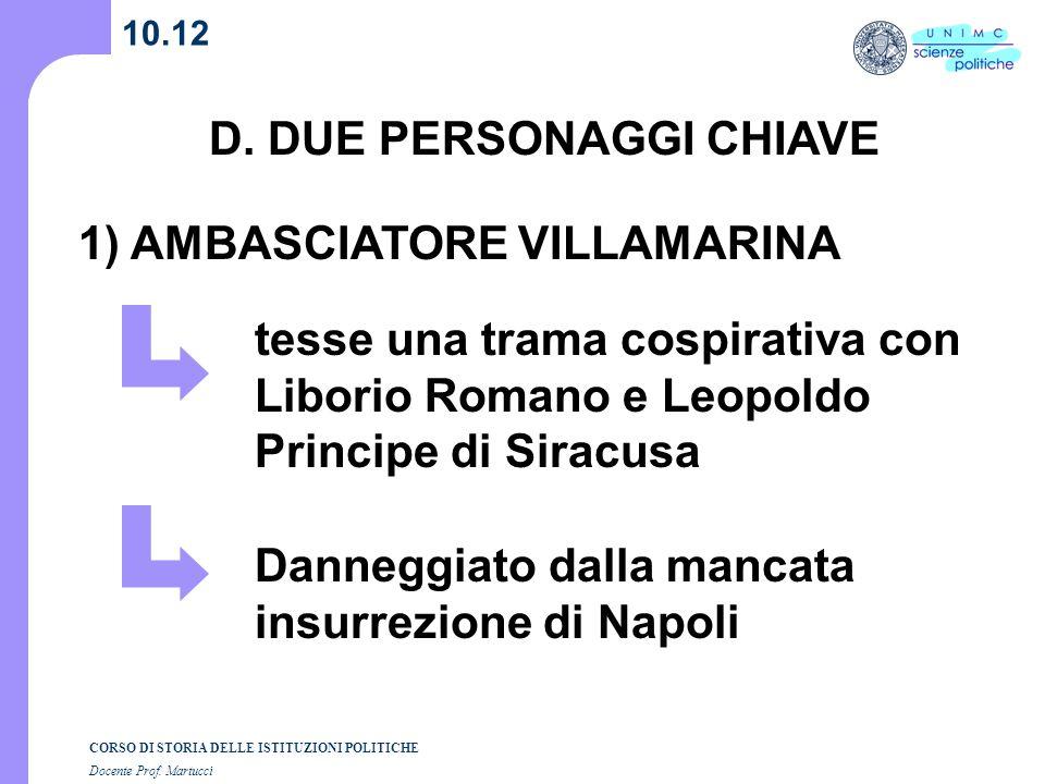 D. DUE PERSONAGGI CHIAVE