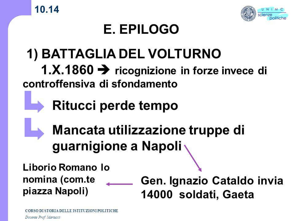 1) BATTAGLIA DEL VOLTURNO 1.X.1860  ricognizione in forze invece di