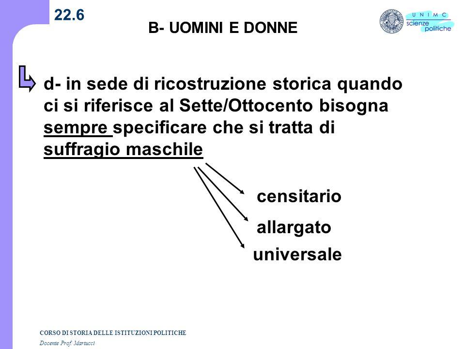22.6 B- UOMINI E DONNE.