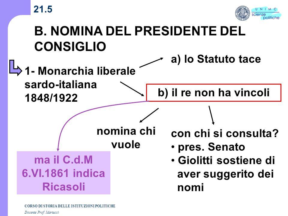 ma il C.d.M 6.VI.1861 indica Ricasoli